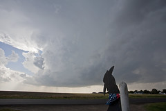 Patience is often rewarded (ianseanlivingston) Tags: kansas supercell patience weather stormchasing thunderstorm updraft