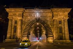 Buda Castle Tunnel (lncgriffin) Tags: nightphotography travel architecture zeiss europa europe hungary sony budapest magyarorszg chainbridge sonnar szchenyilnchd krisztinavaros budacastlehill clarkadamsquare budacastletunnel sonnar35mmf2 rx1r