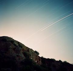 bottomless lake, NM (gruesomesonofabitch) Tags: longexposure 120 film night rolleiflex stars fuji roadtrip