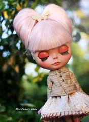Citrus (pure_embers) Tags: uk pink england girl sunshine hair photography eyes doll closed dolls tan blythe custom pure embers eyelids ninha rinoninha pureembers nenelleetlalluli