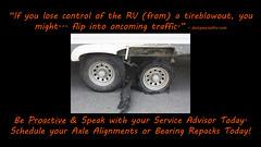 axlealign (veurinksrv) Tags: windows roof wheel doors inspection safety seal maintenance trailer rv 5th protection seam motorhome fifth bearing alignment axle caulk repack preventative slideouts rvservice rvmaintenance