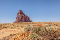 Shiprock (nclint) Tags: travel newmexico landscapes sacred navajo shiprock roadtripping volcanicplug northernnewmexico