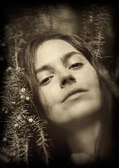 Collodion Portrait of Fanny (mathieustern) Tags: portrait digital photoshop vintage lens effect collodion