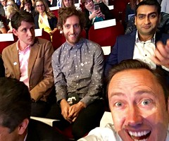 Silicon Valley Selfie with Jared, Richard and Dinesh (jurvetson) Tags: cast valley silicon hbo potus ges ges2016
