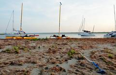 Beached (chadbach) Tags: ocean camping camp water island bay boat sailing texas mud adventure 200 sail tandem hobie 2016