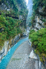 Taiwan-121116-412 (Kelly Cheng) Tags: travel color colour green tourism nature water vertical river landscape daylight colorful asia day outdoor taiwan nobody nopeople canyon colourful tarokonationalpark tarokogorge  traveldestinations  northeastasia