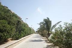 Spain 2016 (Claire_Sambrook) Tags: sea beach water architecture design spain sand scenery palm therock xanadu benidorm calpe ricardobofill theredwall