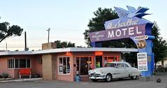Blue Swallow Motel (Rob Sneed) Tags: newmexico classic vintage office tv twilight route66 neon historic retro lobby iconic vacancy tucumcari refurbished blueswallowmotel 100refrigeratedair