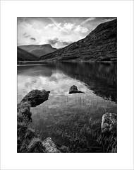 Llyn Ogwen (tkimages2011) Tags: lake water landscape mono monochromatic snowdonia llyn northwales ogwen llynogwen