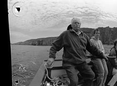 The ferryman (The Dent.) Tags: uk film islands channel nikonf5 d7611 trix400asa