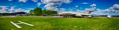 Air Museum Panoramic (Ryan J. Nicholson) Tags: travel abstract vintage landscape high dynamic display aircraft aviation yorkshire engineering wideangle panoramic planes range exhibits aircrafts wiii worldwartwo elvington photostitched yorkshireairmuseum