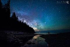 Milky Way over Hunter's Head (AaronPriestPhoto) Tags: ocean nightphotography night stars coast unitedstates maine workshop nightsky meteor mountdesert mountdesertisland milkyway acadianationalpark huntersbeach huntersbrook
