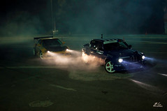 Drift (Ioannis G.) Tags: cars night photography lights smoke burn crete bmw tuning drift gtr d90 heraklio