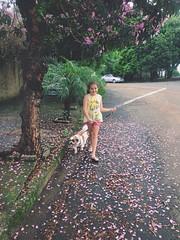 (Thaís Passos) Tags: dog flower love nature girl photography cool sweet cachorro menina