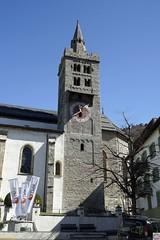 Kirche Leuk (auschmid) Tags: kirche turm wallis valais leuk sal35f14g slta99 auschmid