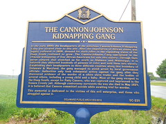 Cannon-Johnson Kidnapping Gang Marker (jimmywayne) Tags: kidnapping historic marker delaware slavery reliance sussexcounty cannonjohnson