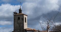 Campanario (Oscar F. Hevia) Tags: espaa tower church spain torre nest iglesia belltower steeple campanile belfry ave segovia nido stork campanario cigea adrados