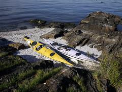 Small beach (Pivi ) Tags: sea beach oslo norway island sand kayak may fjord paddling