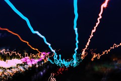 May (loganpemberton) Tags: pink light art car night dark fun headlights lighttrail