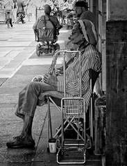 (daveson47) Tags: street people bw mono candid olympus streetphoto sax em5 olympusem5