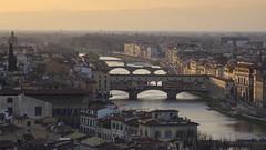 Aussicht ber Florenz (Rene Stannarius) Tags: italien panorama und sonnenuntergang view ponte arno aussicht florenz vecchio toskana piazzalemichelangelo aussichtsplattform