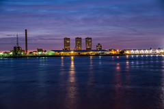 Rotterdam eveningsky (olafgroeneweg) Tags: rotterdam sky colorful colors clouds cloudy cloud city cityscape water roffa river rivier reflextion view nederland netherlands holland night evening eveningsky nikon light lights longexposure beautiful beauty buildings amazing