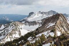 Mount Hoffmann from Tuolumne Peak (zh3nya) Tags: california cliff snow mountains trek frozen rocks hiking hoffmann ridge alpine yosemite granite summit d750 jagged yosemitenationalpark peaks sierranevada rugged steep highsierra scrambling tuolumnepeak nikkor70200f4