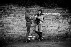 Super Zeroes (Steve Greene Photography) Tags: street costumes urban blackandwhite public monochrome candid streetphotography heroes cheltenham nikond40