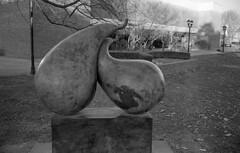 Campus Statue (bclook) Tags: noiretblanc kodaktrix schwarzweiss selfprocessed leicam6 filmisnotdead summicron352 istillshootfilm bwfp
