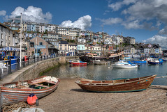 Brixham Harbour and the Golden Hind in South Devon (rosiespoonerphotos) Tags: boats hdr goldenhind brixham southdevon photomatix southwestcoastpath tonemapped brixhamharbour rosiesphotos nikond5000 tamronspaf1024mmf3545diiildasphericalif rosiespooner rosyrosie2009 rosemaryspooner