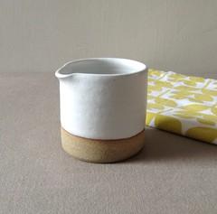 Small White Tip Jug (Jude Allman) Tags: white ceramic ceramics handmade crafts craft pot pots jude clay jug pottery jugs pouring stoneware allman