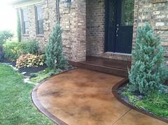 Sidewalk Stained - Texture & Stain (Decorative Concrete Kingdom) Tags: brown texture stain border sidewalk smiths