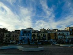 Lungomare di Pozzuoli (_roberta ricciardi) Tags: pozzuoli lungomare bluesky clouds colors sky city summer italy naples