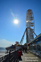 On Central Pier (jonnywalker) Tags: sea wheel coast pier seaside bluesky lancashire promenade ferriswheel seafront funfair blackpool centralpier
