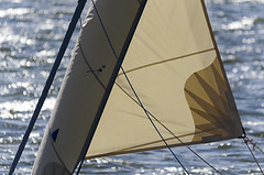 Sail (Jan van der Wolf) Tags: water lines backlight boat ship dof depthoffield sail zeil tegenlicht lijnen glinstering scherptediepte map108142v
