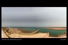 Panoramic view of Rabat and Sale, Morocco.-FB (Said Photography) Tags: rabat morocco panorama beach sea atlantic water canon blue