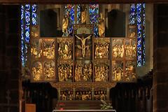 Kirche Ste-Croix in Kaysersberg (imanh) Tags: houtsnijwerk altaar kerk interieur iman heijboer imanh elzas church interior woodcarving altar