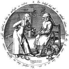 A quarrelsome woman embittered the domestic climate (petrus.agricola) Tags: twelve proverbs flemish dutch after pieter bruegel elder etching probably hieronymus wierix jeronymus