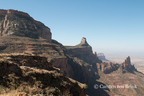 Tigray landscape from the Maryam Korkor cliff-top church