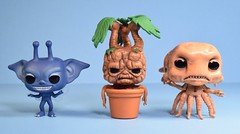 Funko Pop! Cornish Pixie, Mandrake, & Grindylow vinyl figures 3-pack (2016 Summer Convention Exclusive) (FranMoff) Tags: harrypotter funkopop exclusive 2016 cornishpixie mandrake grindylow summerconvention popminis 3pack