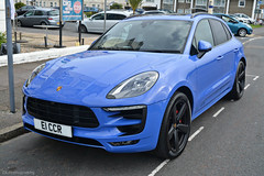 Porsche Macan GTS (CA Photography2012) Tags: e1ccr porsche macan gts suv crossover sports utility vehicle sportscar 4x4 blue purple turbo exotic car spotting ca photography automotive eastbourne sea front uk