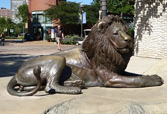 Chicago, Lincoln Park Zoo, Sculpture of Adelor, Long-Time Male Lion Who Died a Few Years Back (Mary Warren (7.2+ Million Views)) Tags: chicago lincolnparkzoo nature art metal sculpture bronze lion adelor
