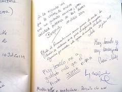 """""""Es la segunda vez que lo visito, de nuevo me ha gustado mucho, gran calidad pictrica de las obras"""" Begoa 10/julio/2014 (Museo del Romanticismo) Tags: museo del romanticismo siglo xix firmas libro de visitas pblico"""