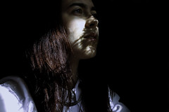 Ombre (flaviabocsan) Tags: light portrait black girl self photography photo ombre
