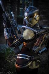 Shae Vizla at Celebration Anaheim (thorssoli) Tags: starwars costume cosplay armor bountyhunter mercenary oldrepublic shaevizla sithacolyte modelmosa