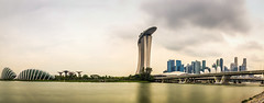 Singapore Garden by the bay and city landscape (jh_tan84) Tags: city longexposure water clouds marina landscape bay singapore cityscape marinabaysands gardenbythebay