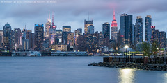 Port Imperial View of Midtown (DSC04931-Edit) (Michael.Lee.Pics.NYC) Tags: longexposure newyork night newjersey twilight nikon waterfront cloudy sony hudsonriver bluehour weehawken midtownmanhattan portimperial nikkor85mmaf18 a7rm2