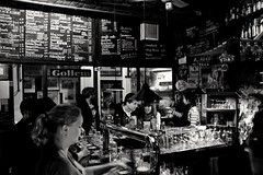 Beer time. Amsterdam. (rededia) Tags: city blackandwhite black monochrome bar blackwhite fuji fujifilm x100 x100t