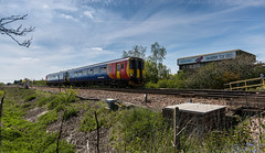 Wide Angle plastic bin! (kevaruka) Tags: blue red england orange cloud sun colour sunshine yellow clouds composition train canon outdoors photography spring flickr colours afternoon outdoor stock may rail railway sunny trains 5d locomotive newark frontpage britishrail nottinghamshire sunnyday 2016 networkrail canonef1635f28mk2 canon5dmk3 5dmk3 canonef100400f4556l 5d3 5diii canoneos5dmk3 newarkdiamondcrossing newarkflatcrossing ilobsterit 05052016