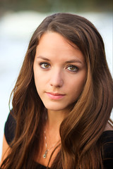 Christine (Sarah Sonny) Tags: portrait woman hair model pretty longhair headshot hazeleyes brownhair